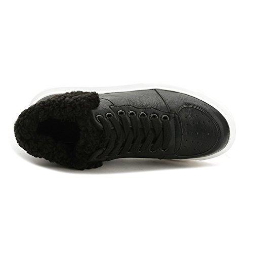 Femmes Plates Lace Up Sport Chaussures De Course Confort Lace Up Plate-forme Exercice Mode Sneaker Noir