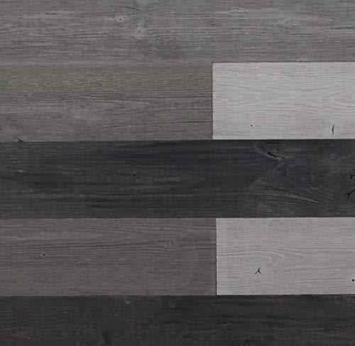 Weathered Plank - Self Adhesive Wall Panels/Reclaimed Weathered Wood Wall Planks/Peel & Stick Rustic Reclaimed Barn Wood Paneling
