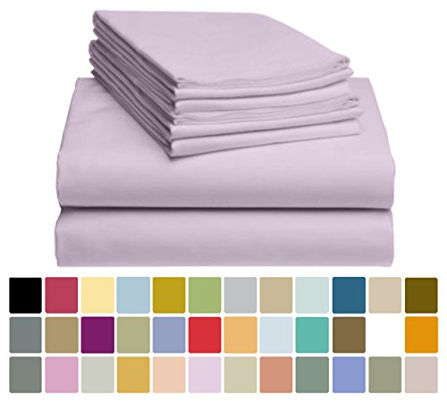 6 PC LuxClub Bamboo Sheet Set w/ 18 inch Deep Pockets - Eco Friendly, Wrinkle Free, Hypoallergentic, Antibacterial, Fade Resistant, Silky, Stronger & Softer than Cotton - Periwinkle California King (Periwinkle Home Decor Fabric)