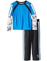 (1.5折)$5.75,ASICS Boys 2-7 Half Back II 亚瑟士红色长袖+长裤,