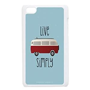 iPod Touch 4 Case Cover, DDdiy VW Bus Custom Cell Phone Case for iPod Touch 4