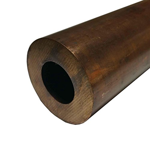 Online Metal Supply C172 Beryllium Copper Hollow Bar / Tube 4.5'' OD, 3'' ID, .750'' Wall x 6'' Long by Online Metal Supply