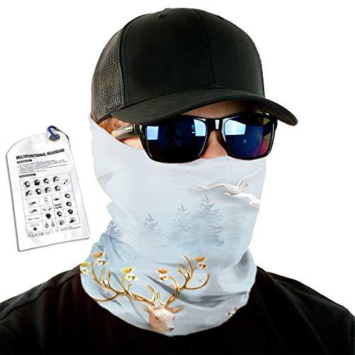 (Frost Milu Deer Headband Head Warp Sport Scarf Tube Mask Bandana For Men Women Headwear )