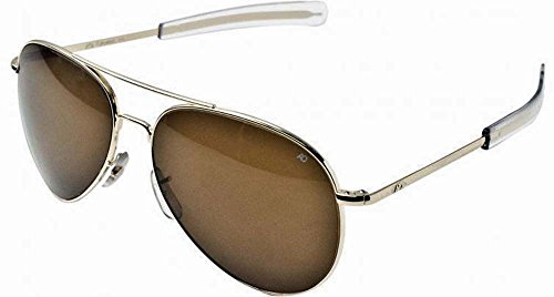 AO General Sunglasses, Silver, Amber Glass Lens, Bayonet, 52mm - General Eyewear