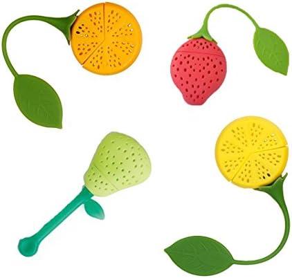 Naranqa Silicone Strawberry Colorful Tea Dishwasher product image