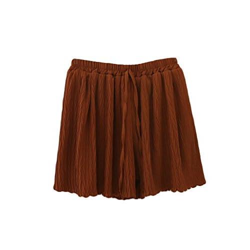 Hot Bestgift Women's Solid Belted Loose Wide Leg Short Culottes hot sale