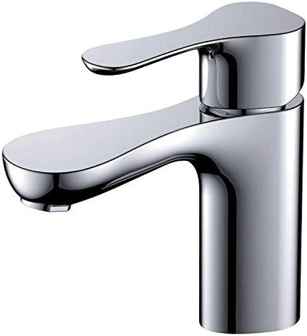 CLJ-LJ バスルームのシンクは、スロット付き浴室の洗面台のシンクホットコールドタップミキサー流域の真鍮シンクミキサータップ非震とう浴室蛇口洗面台ミキサーホットとコールド蛇口の上カウンター洗面蛇口タップ