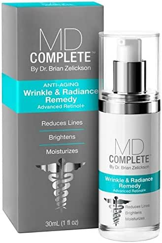 MD Complete Wrinkle & Radiance Remedy Anti Wrinkle Face Cream Night Cream Wrinkle Cream Retinol Moisturizer Reduces Lines Brightens Moisturizes Anti Aging Firming Cream