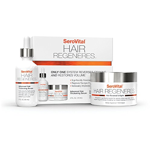 Serovital Hair Regeneres - Revolutionary System That Significantly Reverses Hair Graying, Restores Hair Volume, Revitalizes the Scalp, and Strengthens Hair