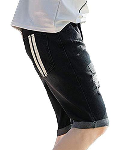 Libero Nero Estivi Uomo E Bermuda Jeans Distrutti Corti Il Per Tempo Ragazzi Da Classiche Pantaloni Di Pantaloncini qUva6