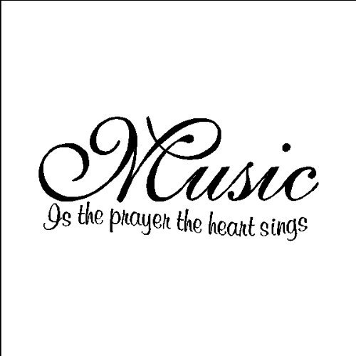 FANGLEE Music is The Prayer The Heart Sings Vinyl Wall Decals Quotes Sayings Words Art Decors ()