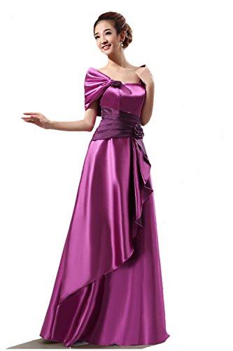 Red royal evening dress elegant evening gown - 5