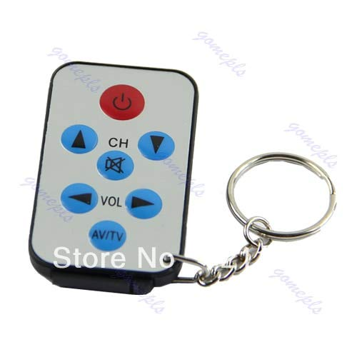 New-Sky-View - New Arrival Mini Universal Infrared IR TV Set Remote Control Keychain Key Ring 7 Keys ()