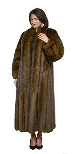 Sable Fur Coat (Russian Sable Fur Coat with Shawl Collar & Rollback Cuffs (Black,2))