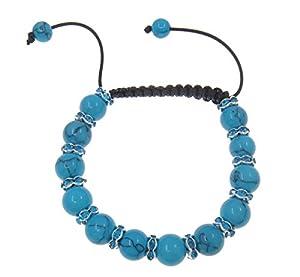 Cassanovum Turquoise Gemstone Shamballa Bracelet - Blue Fertility Bracelet