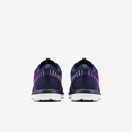 Nike Youth Roshe Two Flyknit Running Shoes-Navy Blue/ Purple-4 by Nike (Image #3)