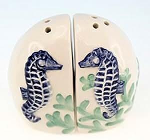 Ceramic Seahorse Design Salt and Pepper Set
