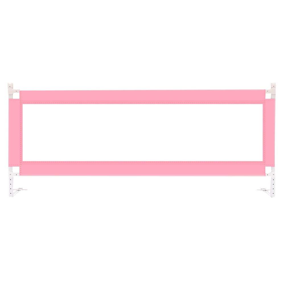 HENGYUS ベッドレール子供のための垂直方向の上下通気性環境に優しい生地10段調整便利安定、3サイズ、3色 (Color : Pink, Size : 200cm) 200cm Pink B07SCV5K98