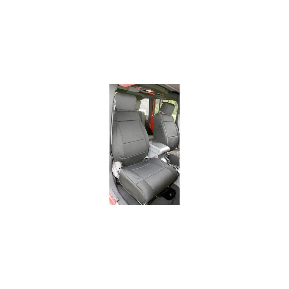 Rugged Ridge 13215.01 Black Neoprene Front Seat Cover for Jeep Wrangler JK