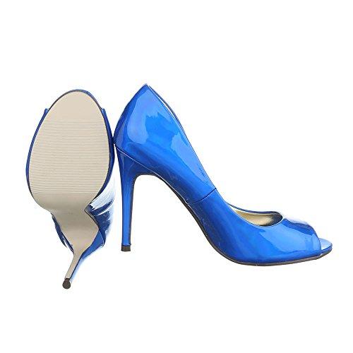 Ital-Design - Zapatos con tacón Mujer Azul