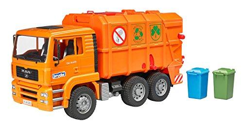 Bruder - MAN Garbage Truck Orange - 3+