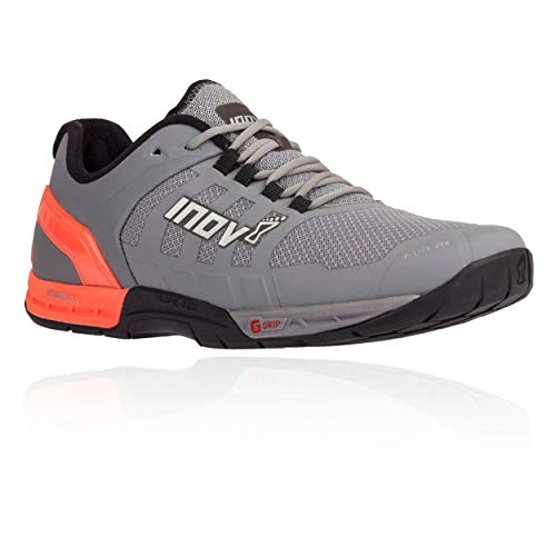 Inov-8 Mens F-Lite 290 - Ultimate Cross Training Shoes - Power Heel - Performance Trainer for Gym and Weight Lifting - Grey/Coral 11 W US