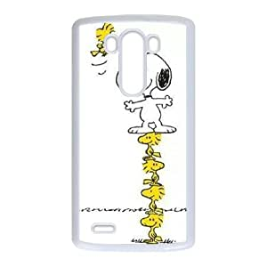 LG G3 Cell Phone Case White Charlie Brown and Snoopy ufkp