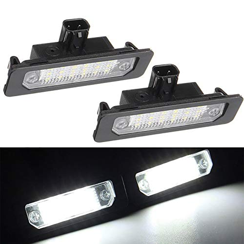 Xinctai 2PCS Car LED Number License Plate Light Lamp For Ford Mustang Focus Fusion Flex Mercury sable milan OEM 8T5Z13550B ()