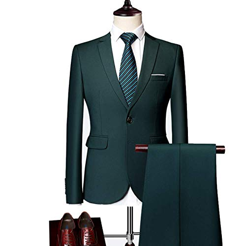 Décontracté D'affaires En Robe De Banquet Option Parties Mariée Darkgreen Multicolore Homme Deux Costume Xdljl 4pqB66