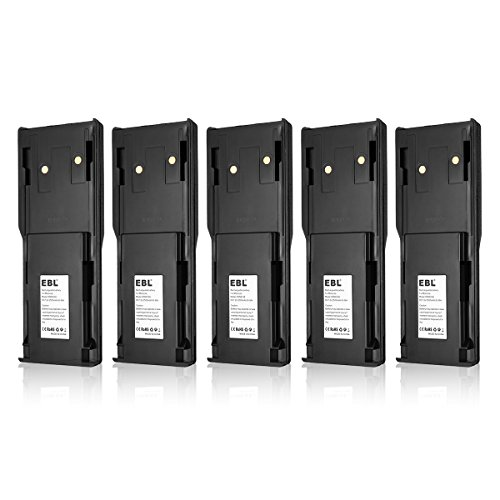 EBL 5 Pack HNN8148, HNN8148A Two-Way Radio Battery for Motorola P110, P-110 Radius 7.2V 2500mAh Ni-MH Rechargeable Battery (Radius P110 Two Way Radio)