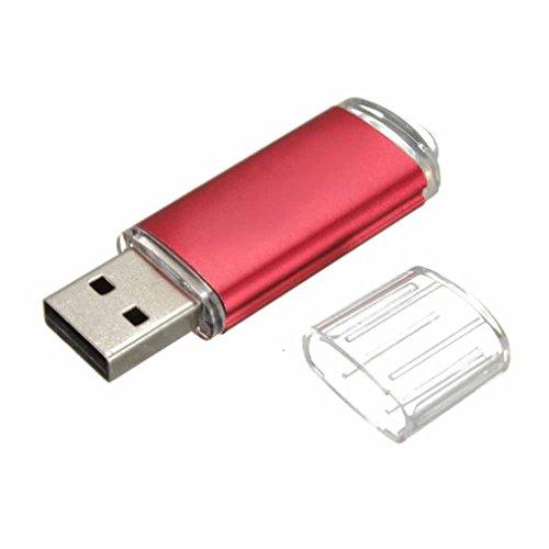 (Baishitop 1GB 2.0 USB Flash Drive Slim Memory Stick Storage U Disk(Red))