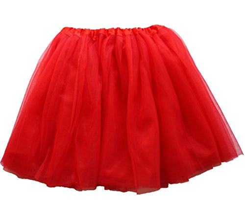 Lovelyprincess Red Fluffy 4layers Teen & Adult Tutu Skirts For Women Plus Size,Red,X-Large (Womens Red Tutu Skirt)