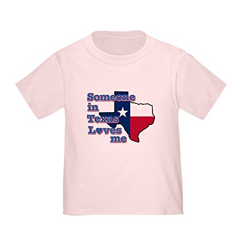 CafePress Someone in Texas Loves me Toddler T-Shirt Cute Toddler T-Shirt, 100% Cotton Pink