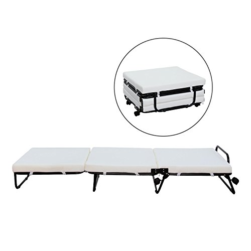 Sleeper Chair Ottoman (HomCom Folding Sofa Ottoman Lounge Bed Sleeper)