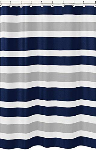 Amazon Com Sweet Jojo Designs Navy Blue Gray And White Kids