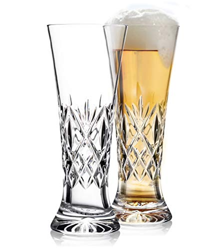 Waterford Crystal Pilsner - Waterford Crystal Huntley Pilsner Beer Glasses, Pair