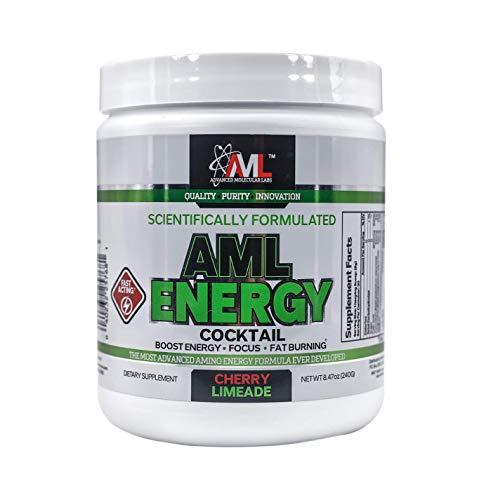 (Advanced Molecular Labs - AML Energy : Energy Powder, Boosts Energy, Improves Focus, Cherry Limeade, 8.47 Ounces)