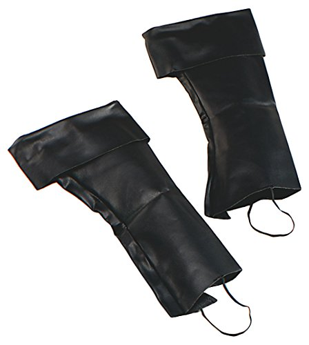 Boot Top Covers Pirate Carribean Jack Sparrow by Bristol Novelties (Pirate Costume Boot Covers)