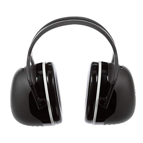 3M Peltor X-Series Over-the-Head Earmuffs, NRR 31 dB, One Size Fits Most, Black X5A (Pack of -