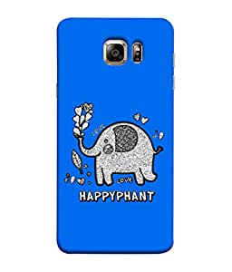 ColorKing Samsung S6 Edge Plus Case Shell Cover - Happyphant 003 Multi Color