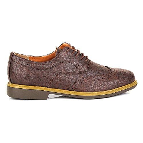 Shoes Click , Herren Brogue Schnürhalbschuhe Braun