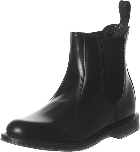 Smooth FLORA BLACK Donna Polished Martens Nero Dr CpxwqtR65x