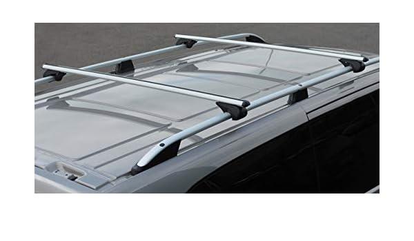 Barras Cruzadas Para Rieles Techo para adaptarse a Mercedes-BENZ CLASE V 100 kg Con Cerradura 2015+
