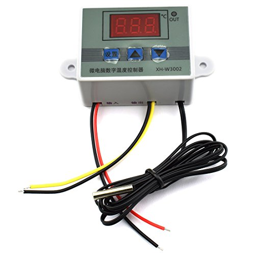 HJ Garden XH-W3002 Mini Thermostat DC 12V 10A Digital LED Temperature Controller -50 to 110 Degree Heating / Cooling Temperature Control Switch with Waterproof Sensor Probe by HJ Garden