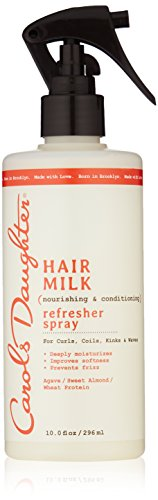 Curly Hair Products by Carol's Daughter, Hair Milk Curl Refresher Spray For Curls, Coils and Waves, with Agave, Sweet Almond and Wheat Protein, Hair Refresher Spray, 10 fl oz (Packaging May Vary) ()