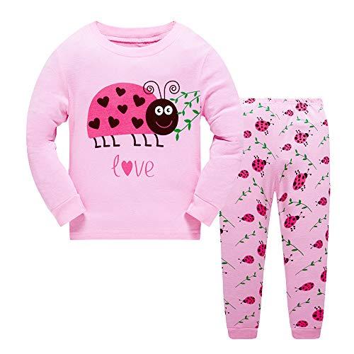 Older Grils Pyjamas for Girl Kids Toddler Ladybug Nightwear Sleepwear Long Sleeve Pjs Set Size 7-8 Years 8T Christmas Thanksgiving Gift