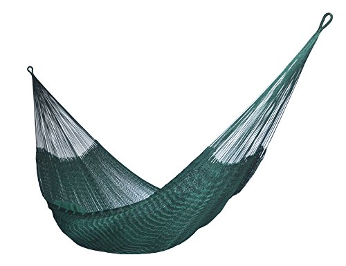 HAMMOCKS RADA- Handmade Yucatan Hammock - DURASOL - Dark Green - 3 Years Full Warranty in Outdoor and More Comfortable - HAMMOCKS RADA - DURASOL - 100% NYLON - HANDMADE - ALL WEATHER PRODUCT- NOW, MORE COMFORTABLE & WARRANTY OF 3 YEARS IN OUTDOOR NEW DESIGN - In base to the Feedbacks of our Customers, we REDESIGN the DURASOL Hammock and NOW is more Comfortable and Spacious, we adjusted the end strings and found a delicious Hammock to take la Siesta and Sleep all the night with the maximum comfort....Also we increased the quality control and ALL the DURASOL Hammocks are tested before be send it....Really we become a SUPERIOR DURASOL Hammock with the changes.....Try It EXTRAORDINARY RESISTANT - The New DURASOL Hammock is make with 100% Nylon Strings treated against the UV Sun Rays and the Rain or Wet Nights, that's means than the Nylon Strings NEVER will BREAK, so you can keep it in OUTDOOR during long terms and the Strings will survive any Weather Condition including SNOW - patio-furniture, patio, hammocks - 41QZpa4e%2BAL -