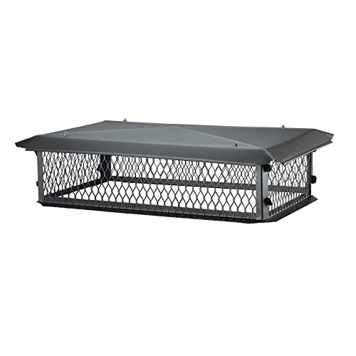 Review BigTop BBT1729K-10W Galvanized steel Multi-Flue Chimney Cap - 10 inch H x 29 inch W x 17 inch...