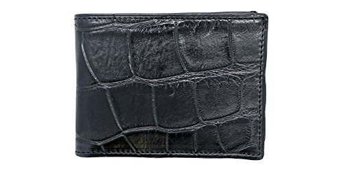 Black Genuine Alligator Millennium Bifold Wallet – Alligator Inside and Out RARE - Factory Direct - Gift Box – Slim Bllfold - Made in USA by Real Leather Creations FBA297 by Real Leather Creations (Image #7)