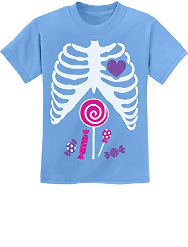 Cute Skeleton Candy Rib-cage X-Ray Halloween Funny Kids T-Shirt